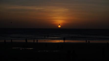 Sunset Kitesurfing