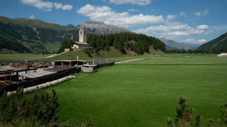 Samedan, cidade vizinha a St Moritz